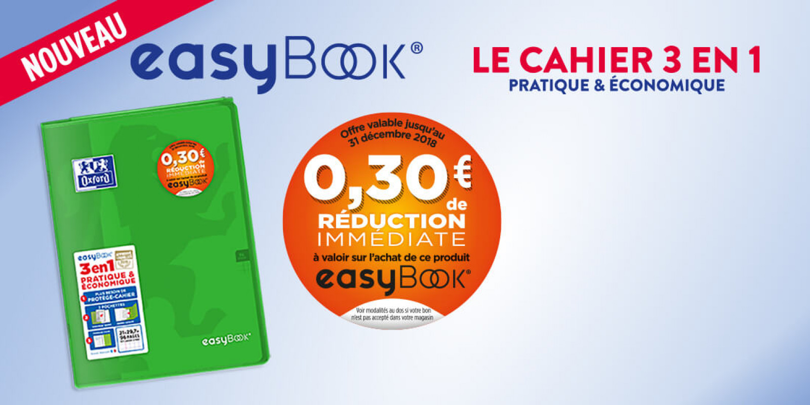 cahier polypro easybook oxford