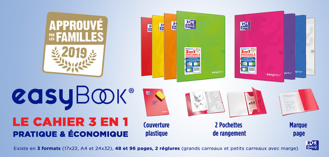 Cahier polypro Oxford easybook