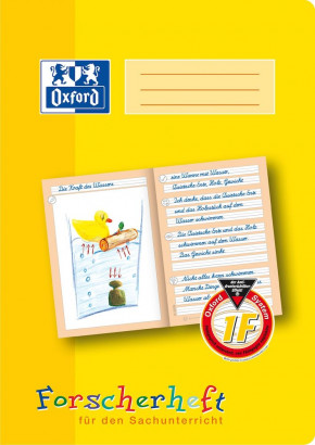 Oxford Learning systems A4 explorer exercise book - ruling 2 F(layout ideally suited for science class)-32 pages-90 gsm Optik Paper® -stapled-yellow - 100050094_1100_1583237123