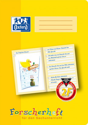 Oxford Learning systems A4 explorer exercise book - ruling 2 F( layout ideally suited for science class)-32 pages-90 gsm Optik Paper® -stapled-yellow - 100050095_1100_1583237127