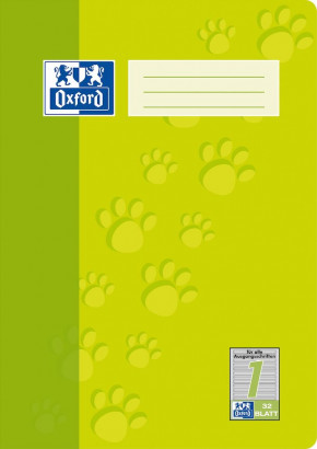Oxford A4 exercise book - ruling 1-64 pages-90 gsm Optik Paper® -stapled-light green - 100050322_1100_1583237211