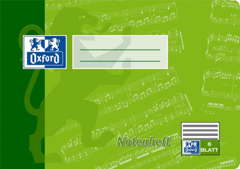 Oxford A5 music book - landscape format-ruling 14 (without artificial lines)-16 pages- 90 gsm Optik Paper® -stapled- green and blue - 100050394_1100_1583237328 - Oxford A5 music book - landscape format-ruling 14 (without artificial lines)-16 pages- 90 gsm Optik Paper® -stapled- green and blue - 100050394_1200_1583237329