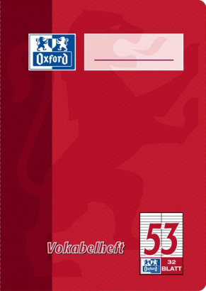 Oxford vocabulary exercise book A4 - ruling 53 (2 columns)-64 pages-90 gsm Optik Paper® - stapled-red and green - 100050398_1100_1583237336 - Oxford vocabulary exercise book A4 - ruling 53 (2 columns)-64 pages-90 gsm Optik Paper® - stapled-red and green - 100050398_1200_1583237337