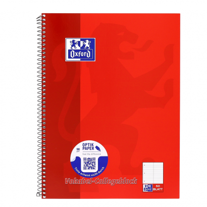 Oxford A4+ vocabulary exercise book, ruling 53 ( 2 coloumns), 100 pages, 90 gsm Optik Paper® , spiral binding, 4 hole punched, micro-perforated, easy to tear out, red -  - 100061259_1100_1561070360 - Oxford A4+ vocabulary exercise book, ruling 53 ( 2 coloumns), 100 pages, 90 gsm Optik Paper® , spiral binding, 4 hole punched, micro-perforated, easy to tear out, red -  - 100061259_1500_1553608167 - Oxford A4+ vocabulary exercise book, ruling 53 ( 2 coloumns), 100 pages, 90 gsm Optik Paper® , spiral binding, 4 hole punched, micro-perforated, easy to tear out, red -  - 100061259_2500_1567582575 - Oxford A4+ vocabulary exercise book, ruling 53 ( 2 coloumns), 100 pages, 90 gsm Optik Paper® , spiral binding, 4 hole punched, micro-perforated, easy to tear out, red -  - 100061259_2300_1553661658 - Oxford A4+ vocabulary exercise book, ruling 53 ( 2 coloumns), 100 pages, 90 gsm Optik Paper® , spiral binding, 4 hole punched, micro-perforated, easy to tear out, red -  - 100061259_1501_1567582606 - Oxford A4+ vocabulary exercise book, ruling 53 ( 2 coloumns), 100 pages, 90 gsm Optik Paper® , spiral binding, 4 hole punched, micro-perforated, easy to tear out, red -  - 100061259_2300_1567582613 - Oxford A4+ vocabulary exercise book, ruling 53 ( 2 coloumns), 100 pages, 90 gsm Optik Paper® , spiral binding, 4 hole punched, micro-perforated, easy to tear out, red -  - 100061259_1500_1574339154 - Oxford A4+ vocabulary exercise book, ruling 53 ( 2 coloumns), 100 pages, 90 gsm Optik Paper® , spiral binding, 4 hole punched, micro-perforated, easy to tear out, red -  - 100061259_1600_1567582633 - Oxford A4+ vocabulary exercise book, ruling 53 ( 2 coloumns), 100 pages, 90 gsm Optik Paper® , spiral binding, 4 hole punched, micro-perforated, easy to tear out, red -  - 100061259_1100_1574340999