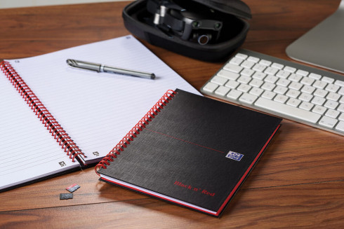 Oxford Black n' Red A5 Matt Hardback Wirebound Notebook Ruled 140 Page Black Scribzee-enabled -  - 100080154_1100_1561095068 - Oxford Black n' Red A5 Matt Hardback Wirebound Notebook Ruled 140 Page Black Scribzee-enabled -  - 100080154_4700_1553547788