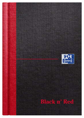 Oxford Black n' Red A6 Hardback Casebound Notebook Ruled 192 Page Black -  - 100080429_1100_1561094854