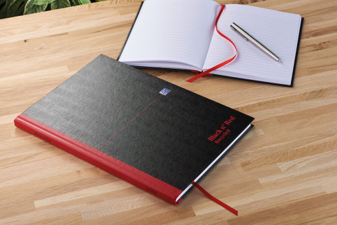 Oxford Black n' Red A4 Hardback Casebound Notebook Ruled 192 Page Recycled Black -  - 100080530_1100_1561094916 - Oxford Black n' Red A4 Hardback Casebound Notebook Ruled 192 Page Recycled Black -  - 100080530_4700_1553547941