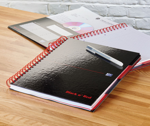 Oxford Black n' Red A4+ Glossy Hardback Wirebound Project Book Ruled with Margin 200 Page Black -  - 100080730_1100_1554292054 - Oxford Black n' Red A4+ Glossy Hardback Wirebound Project Book Ruled with Margin 200 Page Black -  - 100080730_4700_1553547888