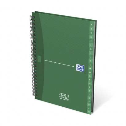 OXFORD Office Essentials A-Z Address Book - A5 - Hardback Cover - Twin-wire - Specific Ruling - 144 Pages - Assorted Colours - 100101258_1200_1583237809 - OXFORD Office Essentials A-Z Address Book - A5 - Hardback Cover - Twin-wire - Specific Ruling - 144 Pages - Assorted Colours - 100101258_1300_1583237811
