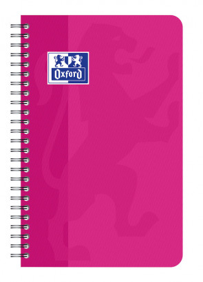 OXFORD CLASSIC SMALL NOTEBOOK - 9x14cm - Soft card cover - Twin-wire - 5x5mm Squares - 100 pages - Assorted colours - 100101696_1100_1583237954