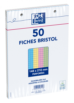 OXFORD Index Cards - A5 - Shrink-wrapped - Hole-punched - 5mm Squares - 50 Cards - Assorted - 100102295_1100_1595580249 - OXFORD Index Cards - A5 - Shrink-wrapped - Hole-punched - 5mm Squares - 50 Cards - Assorted - 100102295_1300_1595580252