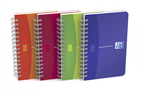 OXFORD Office My Colours Notebook - 9x14cm - Polypropylene Cover - Twin-wire - 5mm Squares - 180 Pages - Assorted Colours - 100102323_1200_1583238121