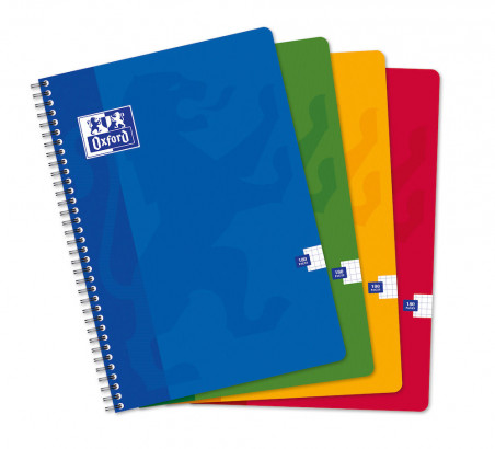 OXFORD CLASSIC NOTEBOOK - A4 - Soft card cover - Twin-wire - 5x5mm Squares - 180 pages - Assorted colours - 100102988_1100_1583238397 - OXFORD CLASSIC NOTEBOOK - A4 - Soft card cover - Twin-wire - 5x5mm Squares - 180 pages - Assorted colours - 100102988_1101_1583238399 - OXFORD CLASSIC NOTEBOOK - A4 - Soft card cover - Twin-wire - 5x5mm Squares - 180 pages - Assorted colours - 100102988_1102_1583238401 - OXFORD CLASSIC NOTEBOOK - A4 - Soft card cover - Twin-wire - 5x5mm Squares - 180 pages - Assorted colours - 100102988_1103_1583238403 - OXFORD CLASSIC NOTEBOOK - A4 - Soft card cover - Twin-wire - 5x5mm Squares - 180 pages - Assorted colours - 100102988_1200_1583238405