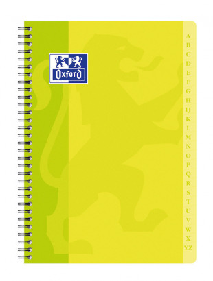 OXFORD CLASSIC INDEX BOOK - A4 - Soft card cover - Twin-wire - 5x5mm Squares - 180 pages - Assorted colours - 100103166_1100_1583238493