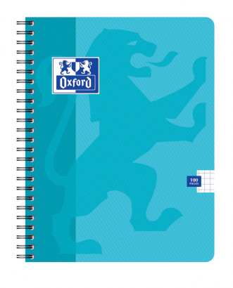OXFORD CLASSIC NOTEBOOK - 17x22cm - Soft card cover - Twin-wire - 5x5mm Squares - 100 pages - Assorted colours - 100103804_1100_1583238645