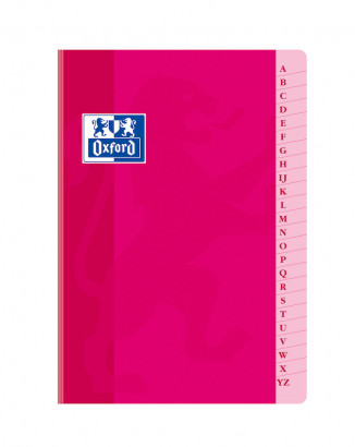 OXFORD CLASSIC INDEX BOOK - A5 - Soft card cover - Casebound - 5x5mm Squares - 192 pages - Assorted colours - 100104024_1100_1583238720