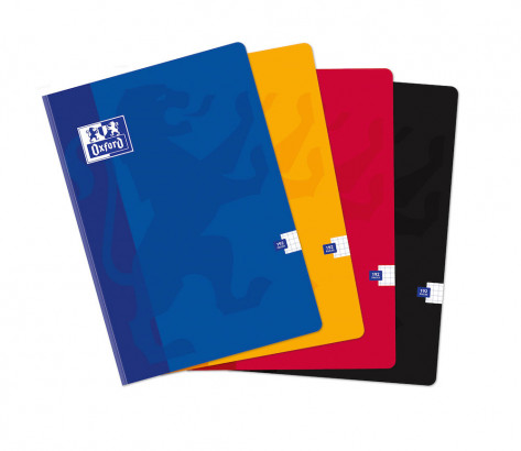 OXFORD CLASSIC NOTEBOOK - A4 - Soft card cover - Casebound - 5x5mm Squares - 192 pages - Assorted colours - 100104139_1200_1583238800