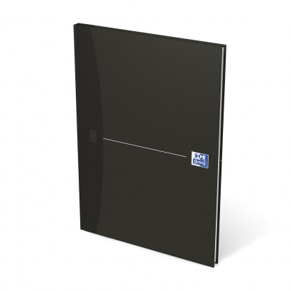OXFORD Office Essentials Notebook - A4 - Hardback Cover - Casebound - 5mm Squares - 192 Pages - Black - 100104227_1300_1583238831