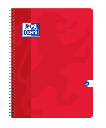 OXFORD CLASSIC NOTEBOOK - 24x32cm - Soft card cover - Twin-wire - 5x5mm Squares - 100 pages - Assorted colours - 100104405_1100_1583238915