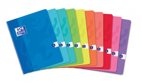 OXFORD CLASSIC NOTEBOOK - 17x22cm - Soft card cover - Stapled - Seyès squares - 96 pages - Assorted colours - 100104421_1200_1583238951