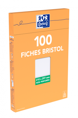 OXFORD Index Cards - A4 - Boxed - Unpunched - Plain - 100 Cards - White - 100104609_1300_1595585214