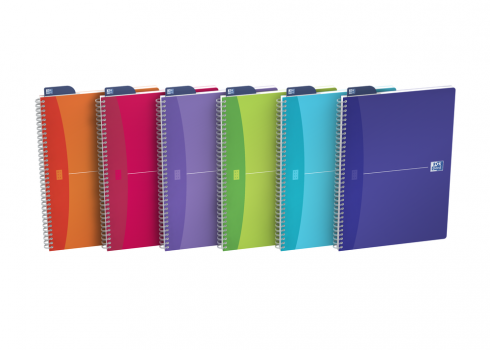 Oxford Office Cahier My Colours - A4 - Couverture polypro - Reliure intégrale - Seyes - 180 pages - Compatible SCRIBZEE® - Coloris Assortis - 100104613_1200_1591965750