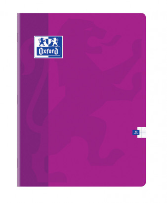 OXFORD CLASSIC NOTEBOOK - 24x32cm - Soft card cover - Stapled - Seyès squares - 48 pages - Assorted colours - 100104986_1100_1583239112