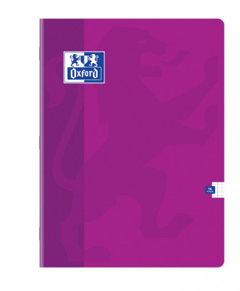 OXFORD CLASSIC NOTEBOOK - 24x32cm - Soft card cover - Stapled - 5x5mm squares with margin - 96 pages - Assorted colours - 100105289_1100_1583239241