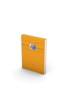 OXFORD Orange Notepad - A7 - Stapled - Coated Card Cover - 5mm Squares - 160 Pages - Orange - 100106275_1300_1583239394