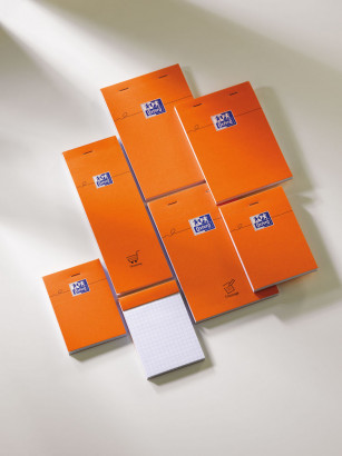 OXFORD Orange Notepad - A7 - Stapled - Coated Card Cover - 5mm Squares - 160 Pages - Orange - 100106275_1300_1583239394 - OXFORD Orange Notepad - A7 - Stapled - Coated Card Cover - 5mm Squares - 160 Pages - Orange - 100106275_1400_1583239395