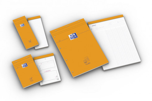 OXFORD Orange Shopping List Notepad - 7,4x21cm - Stapled - Coated Card Cover - 5mm Squares - 160 Pages - Orange - 100106276_1300_1583239404 - OXFORD Orange Shopping List Notepad - 7,4x21cm - Stapled - Coated Card Cover - 5mm Squares - 160 Pages - Orange - 100106276_1201_1583239403