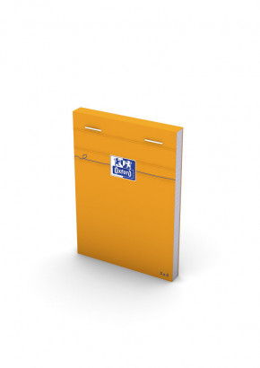 OXFORD Orange Notepad - 8,5x12cm - Stapled - Coated Card Cover - 5mm Squares - 160 Pages - Orange - 100106277_1300_1583239413