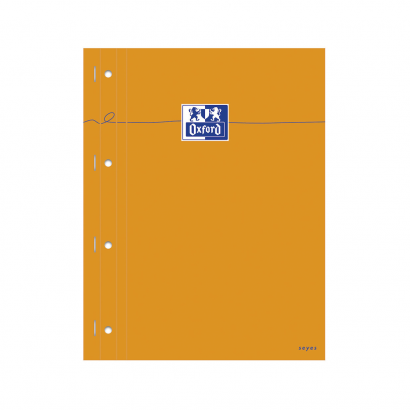 OXFORD Orange Notepad - A4+ - Side-Stapled - Coated Card Cover - Seyès - 160 Pages - SCRIBZEE® Compatible - Orange - 100106288_1100_1559846213