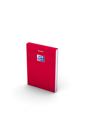 OXFORD Orange Notepad - A7 - Stapled - Coated Card Cover - 5mm Squares - 160 Pages - Red - 100106975_1300_1583239573