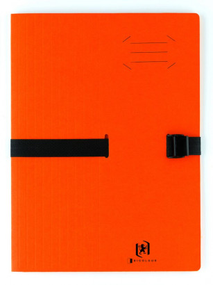 Chemise extensible 13cm Boston A4 Fermeture Clip - Carte Orange -  - 100201315_1100_1577452823