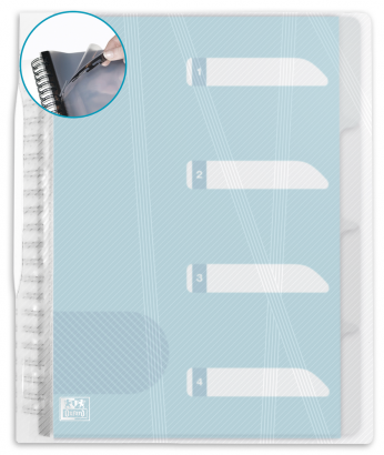 OXFORD HAWAI DISPLAY BOOK REMOVABLE - A4 - 30 Flexam pockets + dividers - Polypropylene - Clear - 100205583_1100_1586054304