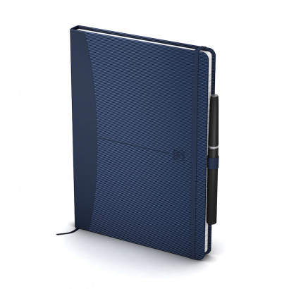 OXFORD Signature Notebook - A5 - Hardback Cover - Casebound - 5mm Squares - 160 Pages - SCRIBZEE®Compatible - Blue - 100735222_1302_1553645526 - OXFORD Signature Notebook - A5 - Hardback Cover - Casebound - 5mm Squares - 160 Pages - SCRIBZEE®Compatible - Blue - 100735222_1301_1583159528