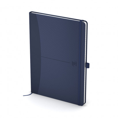 OXFORD Signature Notebook - A5 - Hardback Cover - Casebound - 5mm Squares - 160 Pages - SCRIBZEE®Compatible - Blue - 100735222_1302_1553645526