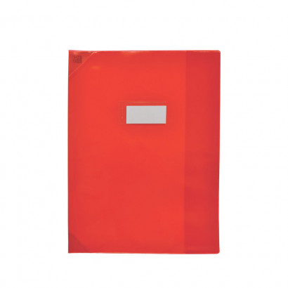 PROTEGE-CAHIER OXFORD STRONG LINE - 24x32 - Avec marque page - PVC - 150µ - Translucide - Rouge - 400006843_8000_1561566499