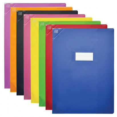 PROTEGE-CAHIER OXFORD STRONG LINE - 24x32 - Avec marque page - PVC - 150µ - Opaque - Couleurs assorties - 400006852_8000_1561566547