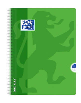OXFORD OPENFLEX CAHIER -  24x32cm - Couverture plastique - Double spirale - Grands carreaux Seyès - 100 pages - Couleurs assorties - 400007660_1100_1583239933