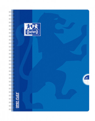 OXFORD OPENFLEX CAHIER -  24x32cm - Couverture plastique - Double spirale - Grands carreaux Seyès - 100 pages - Couleurs assorties - 400007660_1100_1583239933 - OXFORD OPENFLEX CAHIER -  24x32cm - Couverture plastique - Double spirale - Grands carreaux Seyès - 100 pages - Couleurs assorties - 400007660_1101_1583239935