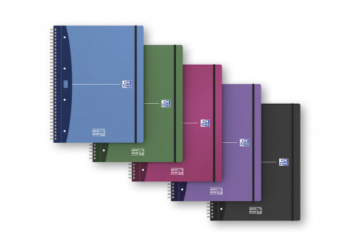 OXFORD Office Urban Mix Movebook - A4+ - Polypropylene Cover - Twin-wire - Ruled - 160 Pages - SCRIBZEE® Compatible - Assorted Colours - 400011307_1200_1583240096
