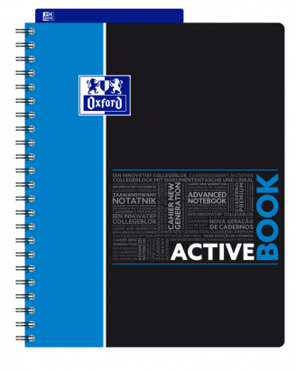 OXFORD STUDENTS ACTIVEBOOK Notebook - A4+ - Polypro cover - Twin-wire - Seyès Squares - 160 pages - SCRIBZEE® compatible  - Assorted colours - 400019519_1101_1553278771 - OXFORD STUDENTS ACTIVEBOOK Notebook - A4+ - Polypro cover - Twin-wire - Seyès Squares - 160 pages - SCRIBZEE® compatible  - Assorted colours - 400019519_1100_1553278767