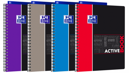 OXFORD ETUDIANTS Cahier ACTIVEBOOK - A4+ - Couverture polypro - Double spirale - Petits carreaux 5mm - 160 pages - Compatible SCRIBZEE® - Couleurs assorties - 400019520_1200_1583240365