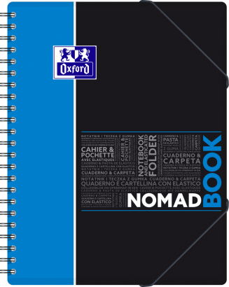 OXFORD STUDENTS NOMADBOOK Notebook - A4+ - Polypro cover - Twin-wire - Seyès Squares - 160 pages - SCRIBZEE® compatible - Assorted colours - 400019521_1101_1583240369