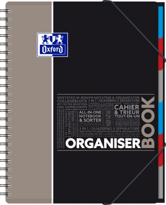 OXFORD STUDENTS ORGANISERBOOK Notebook - A4+ - Polypro cover - Twin-wire - 5mm Squares - 160 pages - SCRIBZEE® compatible - Assorted colours - 400019524_1102_1583240386 - OXFORD STUDENTS ORGANISERBOOK Notebook - A4+ - Polypro cover - Twin-wire - 5mm Squares - 160 pages - SCRIBZEE® compatible - Assorted colours - 400019524_1101_1583240386