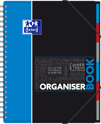 OXFORD ETUDIANTS Cahier ORGANISERBOOK - A4+ - Couverture polypro - Double spirale - Ligné 7mm - 160 pages - Compatible SCRIBZEE® - Couleurs assorties - 400037404_1200_1583240882 - OXFORD ETUDIANTS Cahier ORGANISERBOOK - A4+ - Couverture polypro - Double spirale - Ligné 7mm - 160 pages - Compatible SCRIBZEE® - Couleurs assorties - 400037404_1101_1583240879 - OXFORD ETUDIANTS Cahier ORGANISERBOOK - A4+ - Couverture polypro - Double spirale - Ligné 7mm - 160 pages - Compatible SCRIBZEE® - Couleurs assorties - 400037404_1103_1583240881