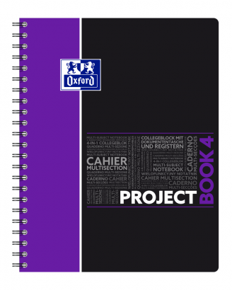 OXFORD STUDENTS PROJECT BOOK Notebook - A4+ - Polypro cover - Twin-wire - 7mm Ruled - 200 pages - SCRIBZEE® compatible  - Assorted colours - 400037434_1102_1583240913