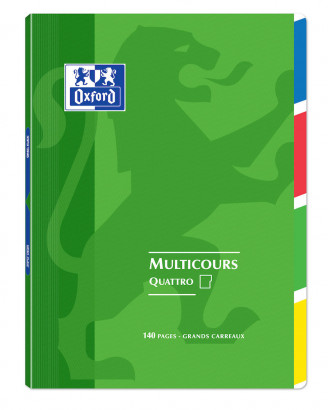 OXFORD OPENFLEX QUATTRO NOTEBOOK -  24x32cm - Polypro cover - Stapled - Seyès squares - 140 pages - Assorted colours - 400037657_1100_1583240968 - OXFORD OPENFLEX QUATTRO NOTEBOOK -  24x32cm - Polypro cover - Stapled - Seyès squares - 140 pages - Assorted colours - 400037657_1102_1583240977